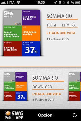 Politicapp app di sondaggi elettorali