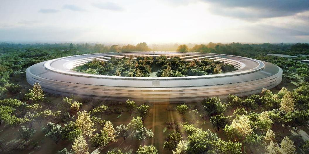 nuova sede di Apple - jobs - spaceship - ecosostenibile