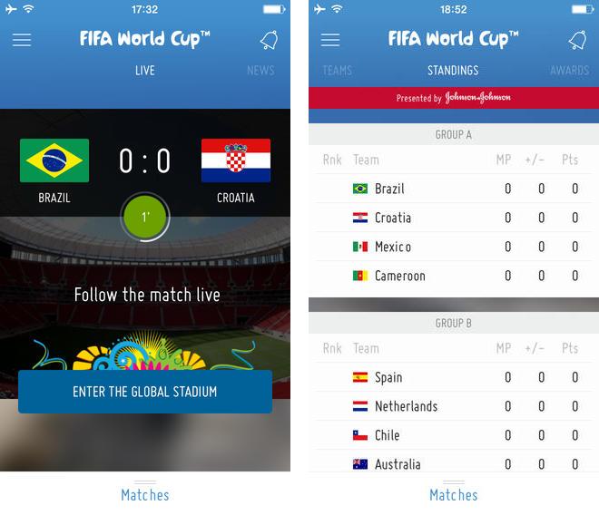 fifa app ufficiale mondiali 2014