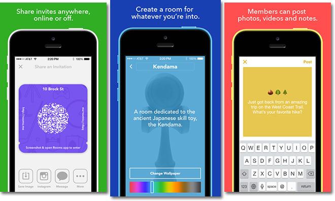 facebok app Rooms