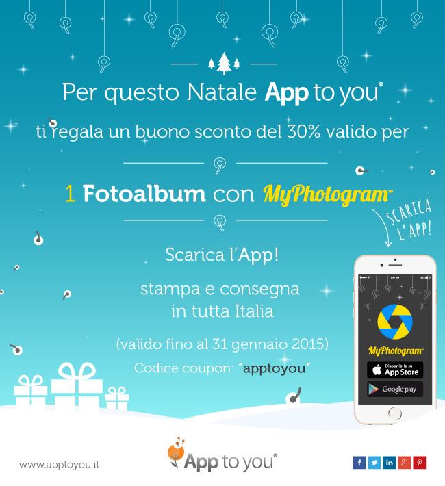 il coupon di natale di app to you per myphotogram