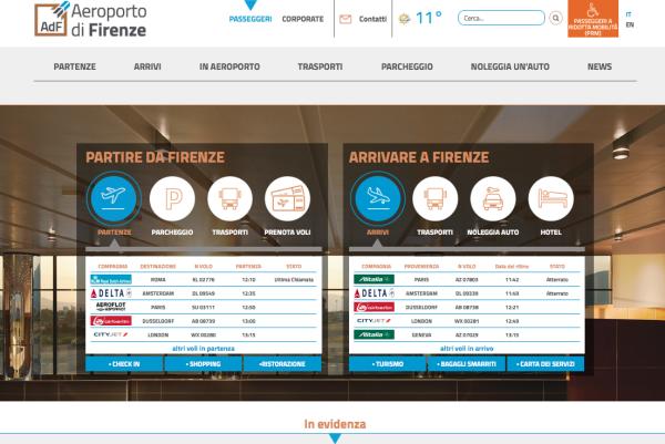 aeroporto di firenze nuovo sito app to you
