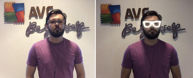 avg occhiali anti riconoscimento facciale prototipo