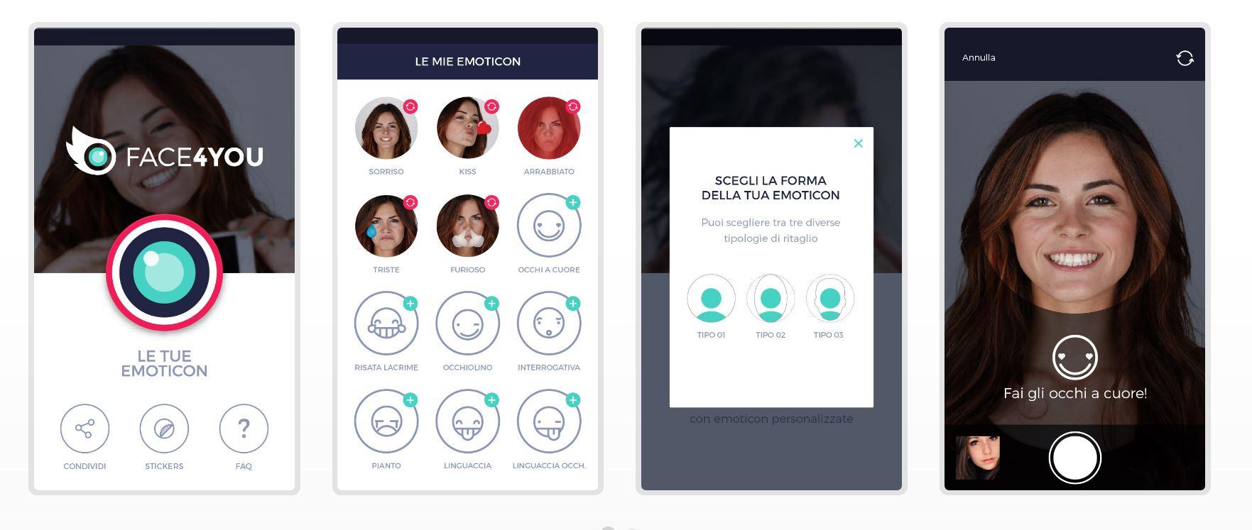 App Face4You crea emoticon con il proprio viso 2