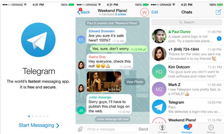 Telegram chat segrete
