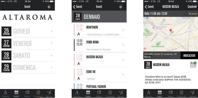 altaroma 2017- app