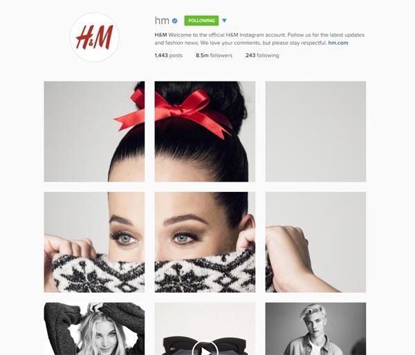 Instagram puzzle H&M