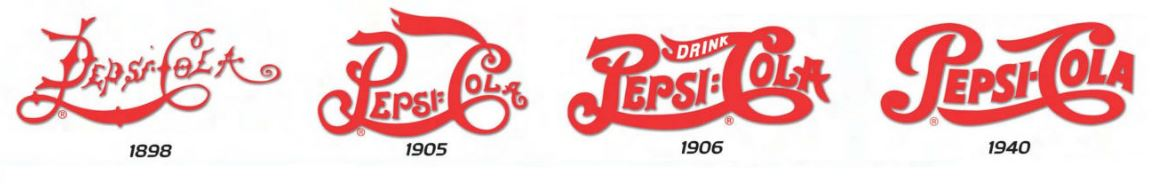 Logo Pepsi cola dal 1989 al 1940